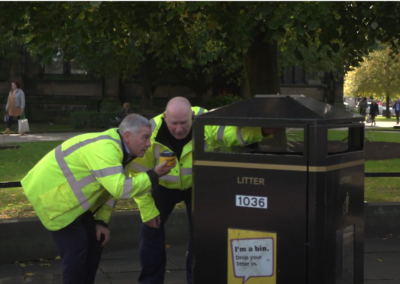 Smart sensors manage public bins and waste collection