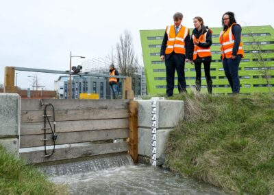 Living lab for naturally engineered flood defence systems